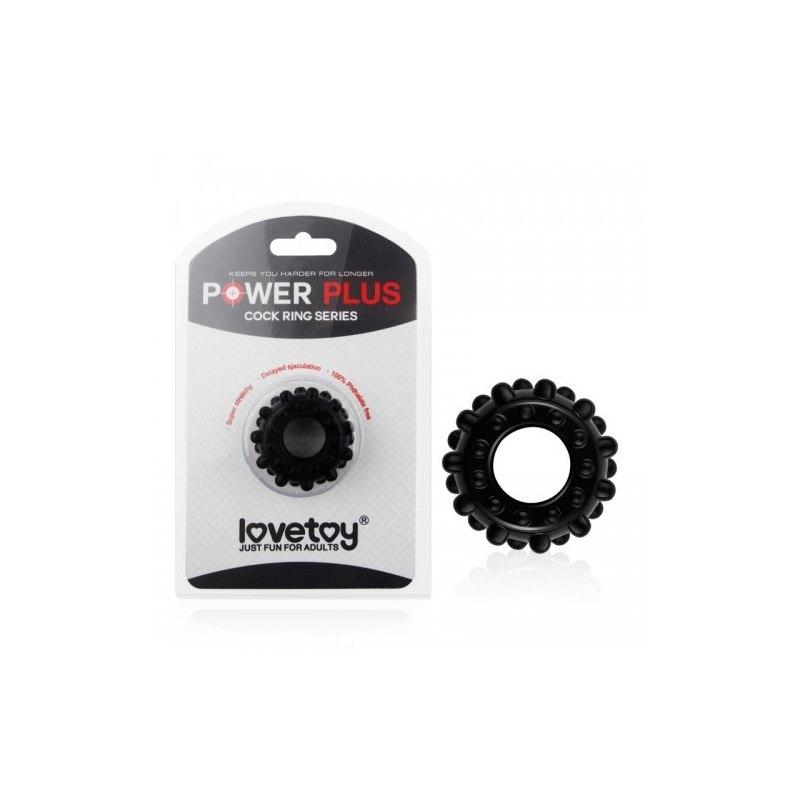 Черное эрекционное кольцо Power Plus Cock Ring
