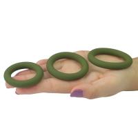 Набор из 3 эрекционных колец  Power Plus Soft Silicone Snug Ring зеленые