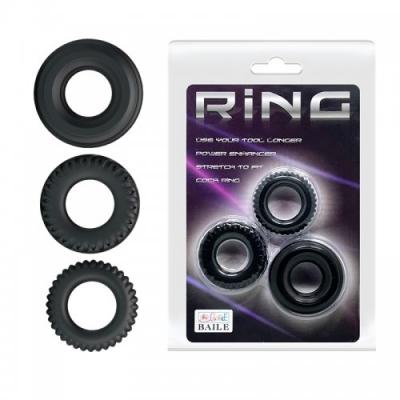 Набор из трёх разных эрекционных колец Ring