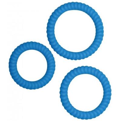 Набор эрекционных колец Lust 3 Blue Orion