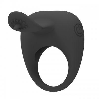 Виброкольцо с клиторальным стимулятором Pretty Love Stimulating Tonguo