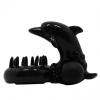 Виброкольцо Дельфин с вибрацией черное
