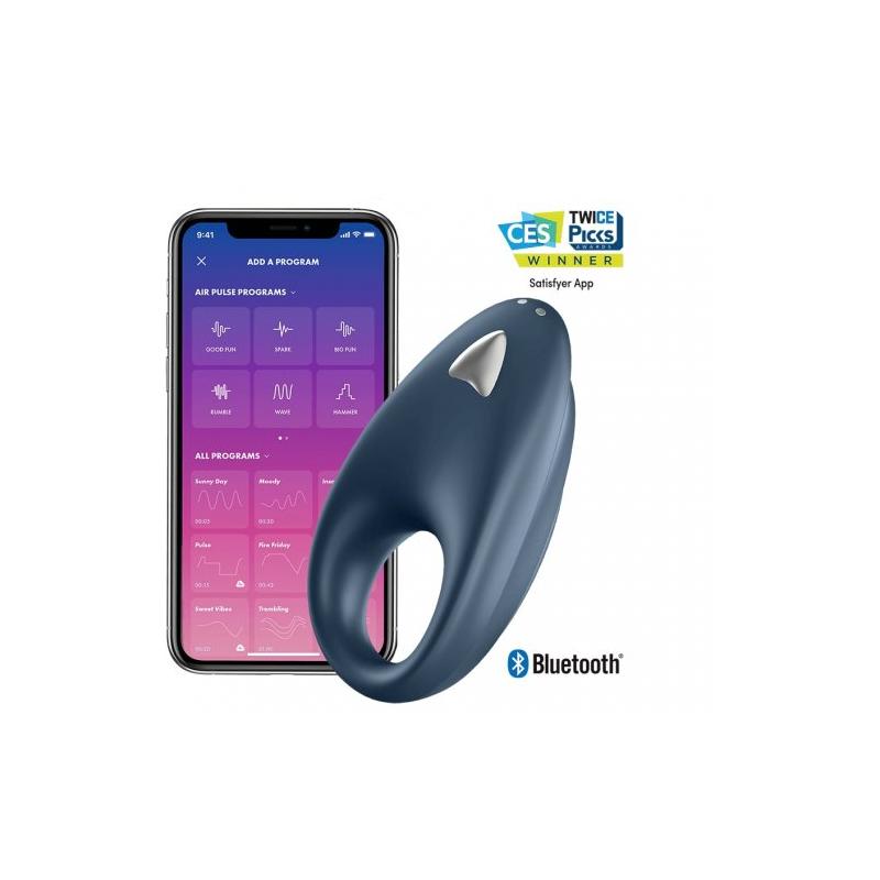 Эрекционное кольцо Satisfyer Powerful One с управлением через приложение