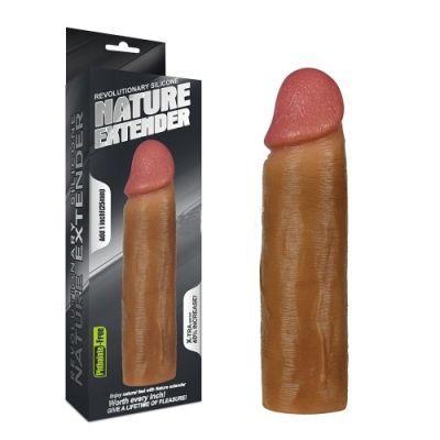 Насадка на пенис Nature Extender мулат плюс 2,5 см