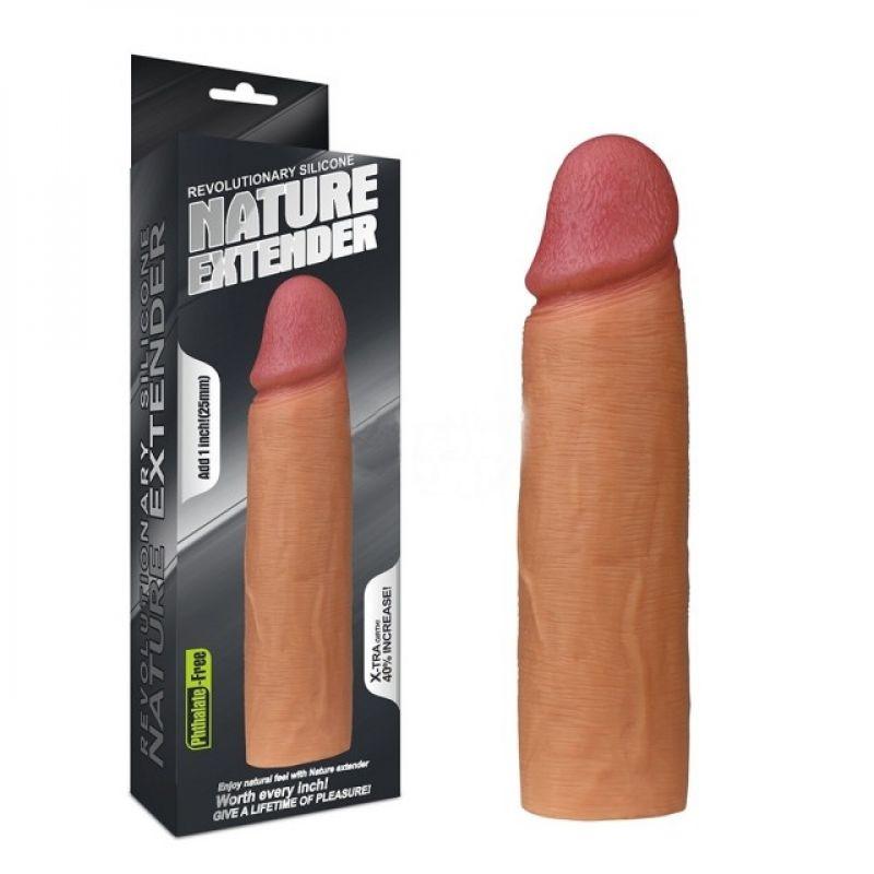 Насадка на пенис Nature Extender телесная плюс 2,5 см