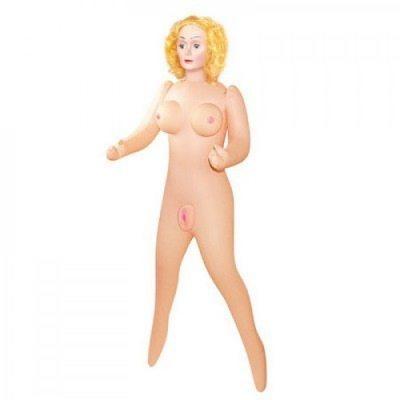 Надувная кукла-блондинка с красными губками