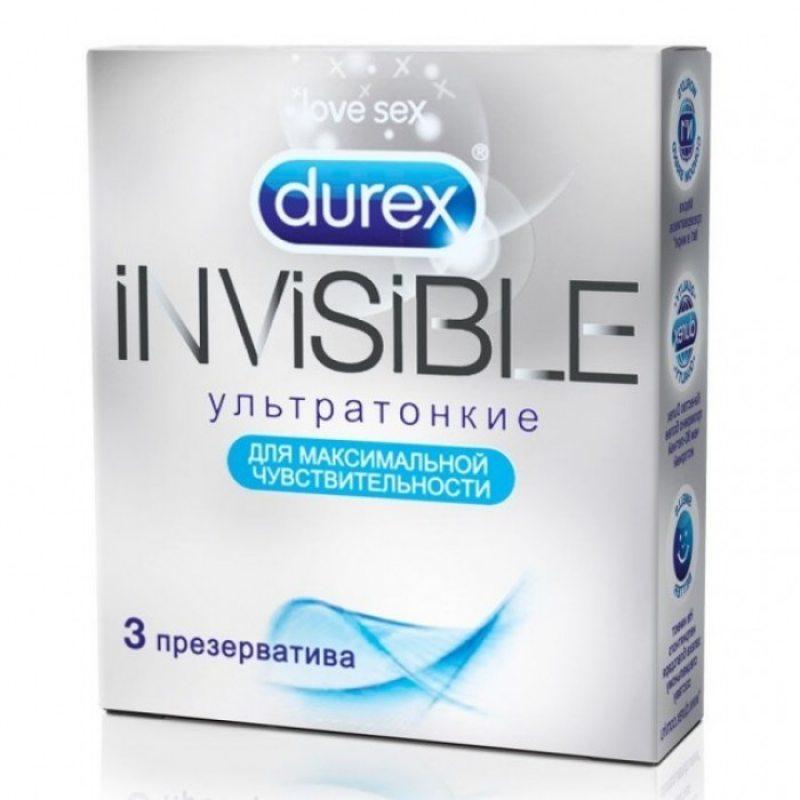 Презервативы Durex №3 Invisible (ультратонкие)