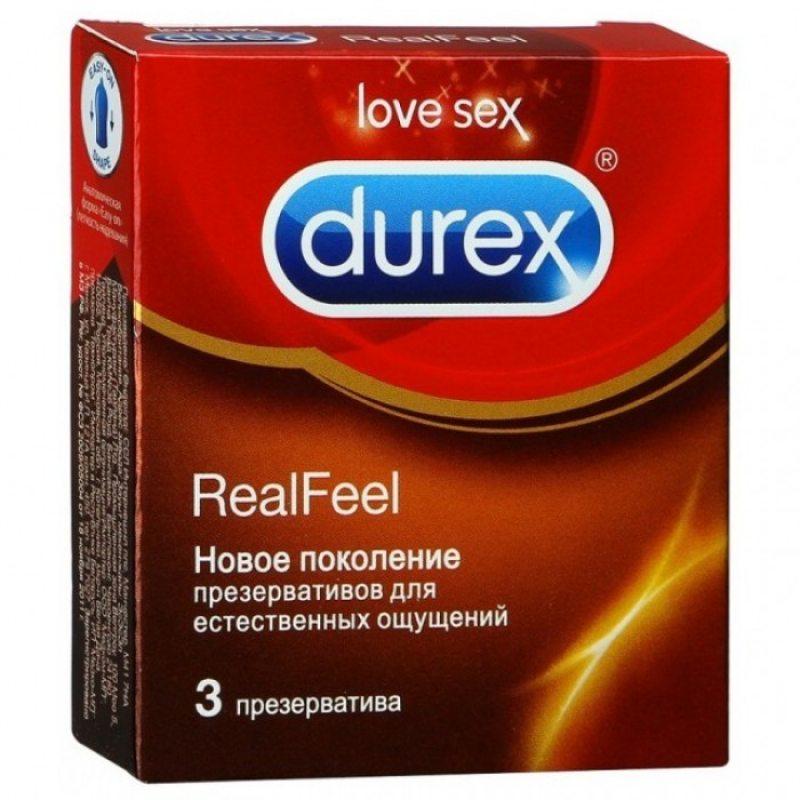 Презервативы Durex №3 Real Feel с эффектом кожа к коже