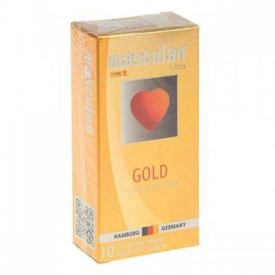 Презервативы Masculan Ultra Type 5 Gold золотые 10 шт