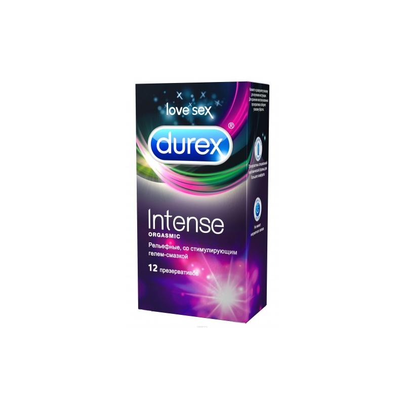 Презервативы Durex Intense Orgasmic с ребристой и точечной структурой 12 шт