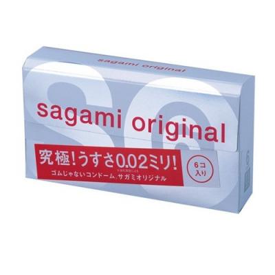 Полиуретановые презервативы Sagami Original 0,02 6 шт