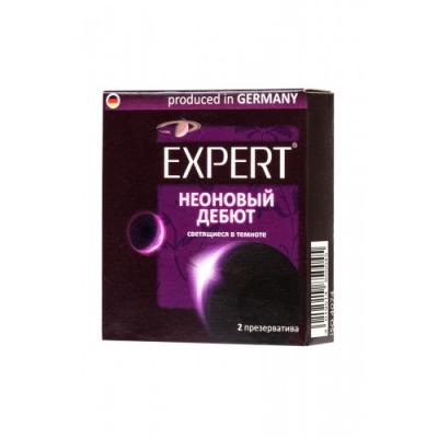 Презервативы светящиеся в темноте Expert Неоновый дебют 2 шт