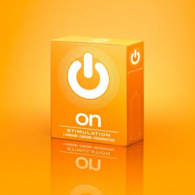 """Презервативы """"ON)"""" Stimulation №3 - с точками (ширина 54mm)"""