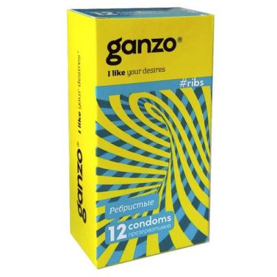 Презервативы Ganzo №12 Ribs ребристые