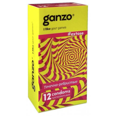 Презервативы Ganzo №12 Extase точечно-ребристые