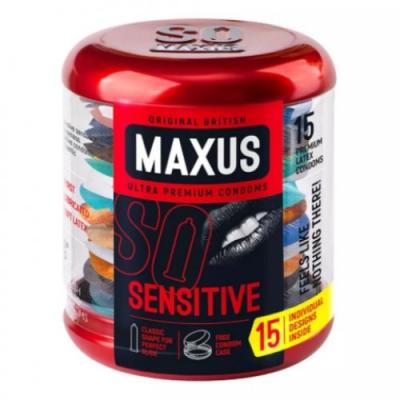 Презервативы Maxus №15 Sensitive ультратонкие в металлическом кейсе