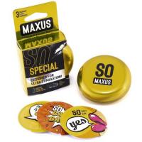 Презервативы Maxus №3 Special точечно-ребристые