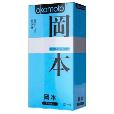 Презервативы Okamoto Skinless Skin Super Lubricative №10 с обильной смазкой