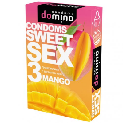 Оральные презервативы Domino манго
