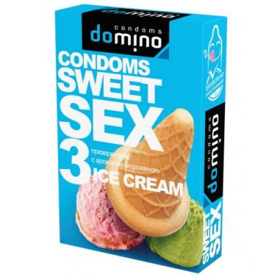 Оральные презервативы Domino мороженое