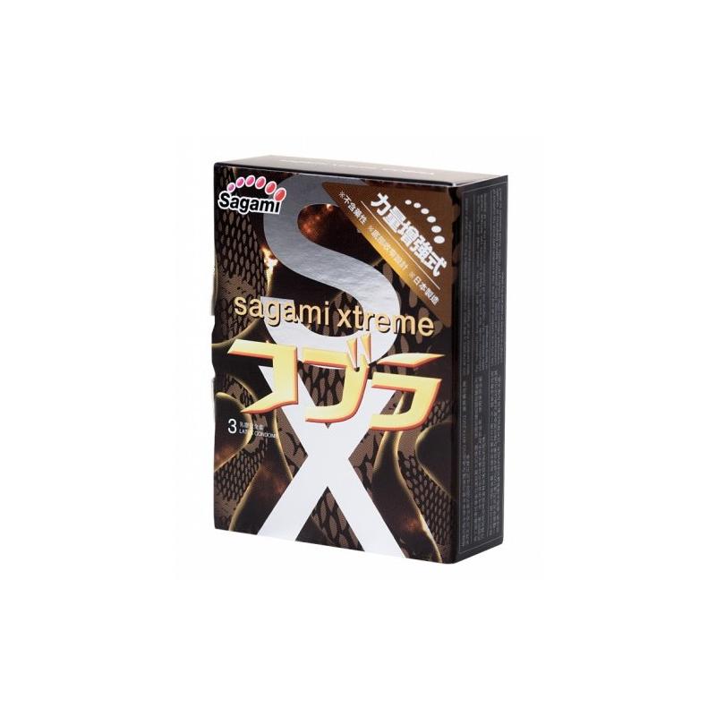Презервативы с эффектом сужения Sagami Xtreme Cobra 3 шт