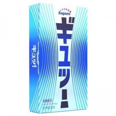 Презервативы Sagami №12 c волнообразной текстурой 6 Fit V 1 шт