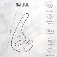 Безремневой анальный страпон Natural Seduction телесный