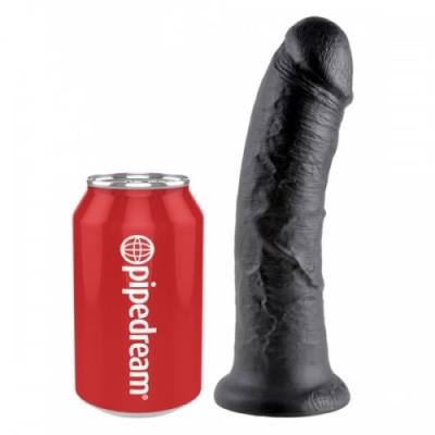 """Фаллоимитатор King Cock 8"""" Cock  черный с присоской"""