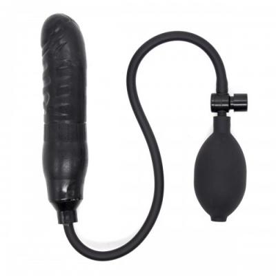 Черный расширяющийся фаллос с грушей