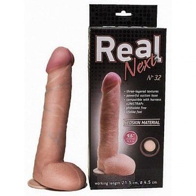 Реалистичный фаллос на присоске 9,6in Real Next №32