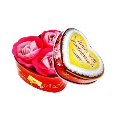 Набор мыльные лепестки в шкатулке-сердце Валентинка