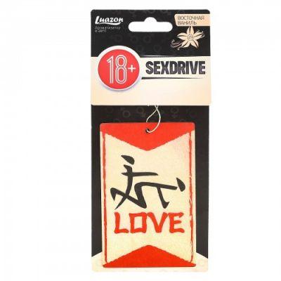 Ароматизатор в авто бумажный Sexdrive Любовь с ароматом ваниль