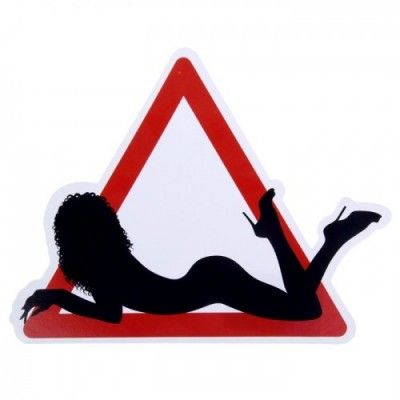 Наклейка - знак на авто Девушка