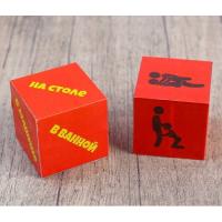 Кубики для любовных игр Места: серия для взрослых, 2 шт.