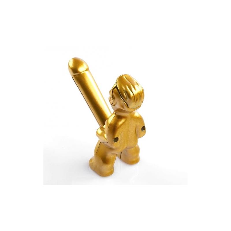 Зажигалка Женское счастье с кремнием, золотая