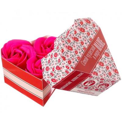 Мыльные лепестки в коробке-сердце Самой чудесной в мире маме