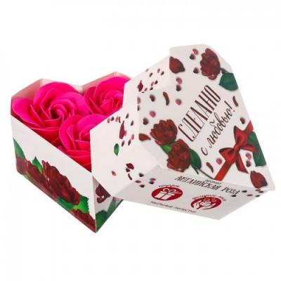 Мыльные лепестки в коробке-сердце Сделано с любовью