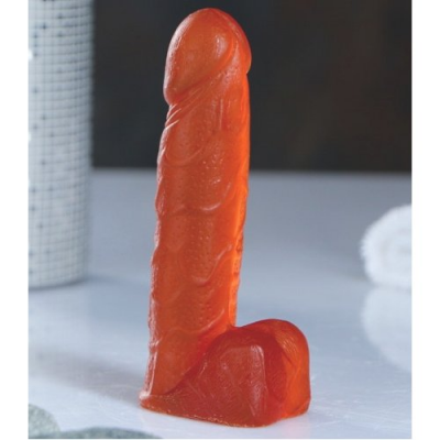 Фигурное оранжевое мыло Фаворит 11,5 см, с ароматом вишневое молоко, 95 гр
