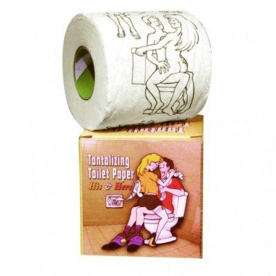Сувенирный рулон с картинками Tantalizing Paper His and Hers