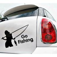 Виниловая наклейка на авто Go Fishing