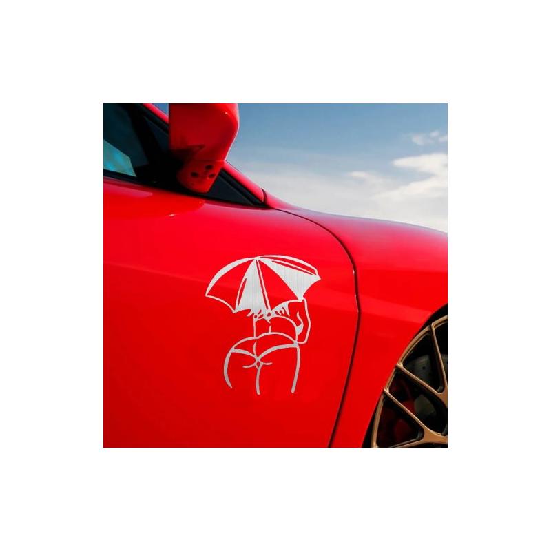 Виниловая наклейка на авто Девушка