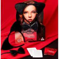 Эротический набор Территория соблазна: Женщина-кошка - ободок, галстук-бабочка, 10 карт