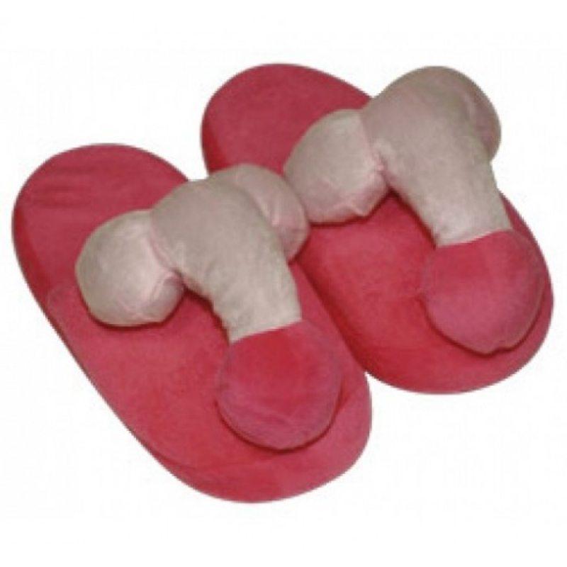 Сувенир тапки с пенисом розовые