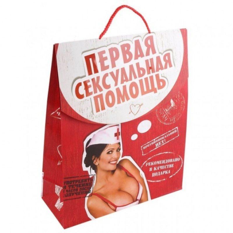 Подарочный пакет-конверт Первая сексуальная помощь ML