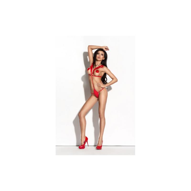 Красное ленточное боди Sandra L/XL