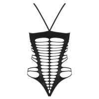 Черное боди-сетка с соблазнительными вырезами S/L