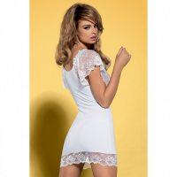 Белая сорочка с цветочным кружевом Imperia Chemise S/M
