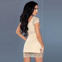 Кремовая сорочка и трусики Sarah L/XL