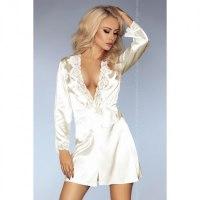 Молочный халатик и сорочка Jacqueline S/M