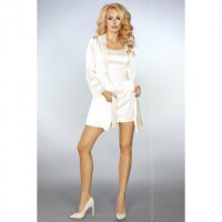 Молочный халатик и сорочка Jacqueline L/XL